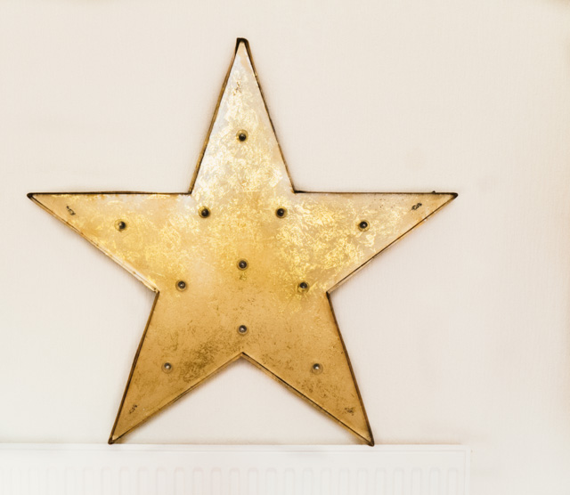 gold star lamp