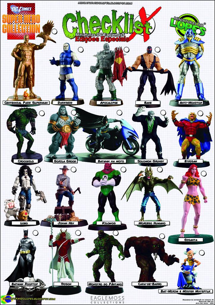 checklist - dc comics supe hero collection