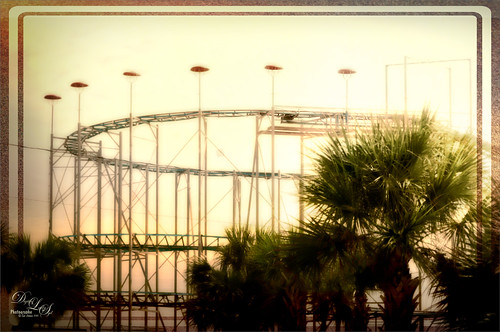 Image of a roller coaster at Daytona Beach, Florida