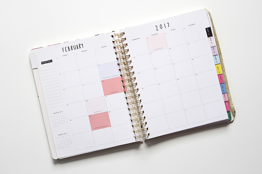 Calendar Planner C : Calendar inside planner on clean desk yourbestdigs
