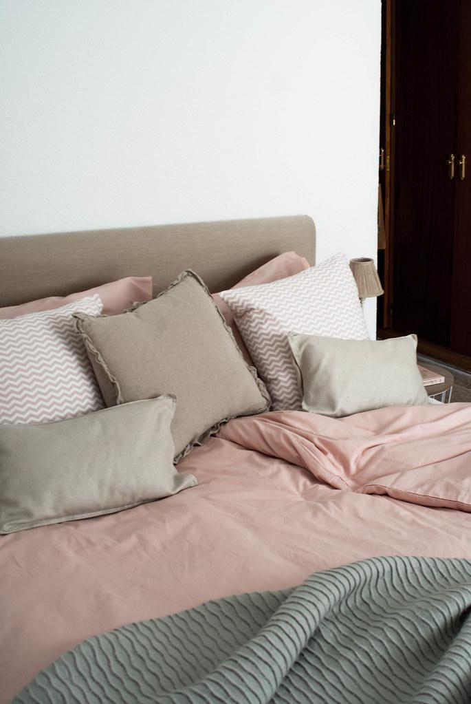 Funda nórdica color rosa