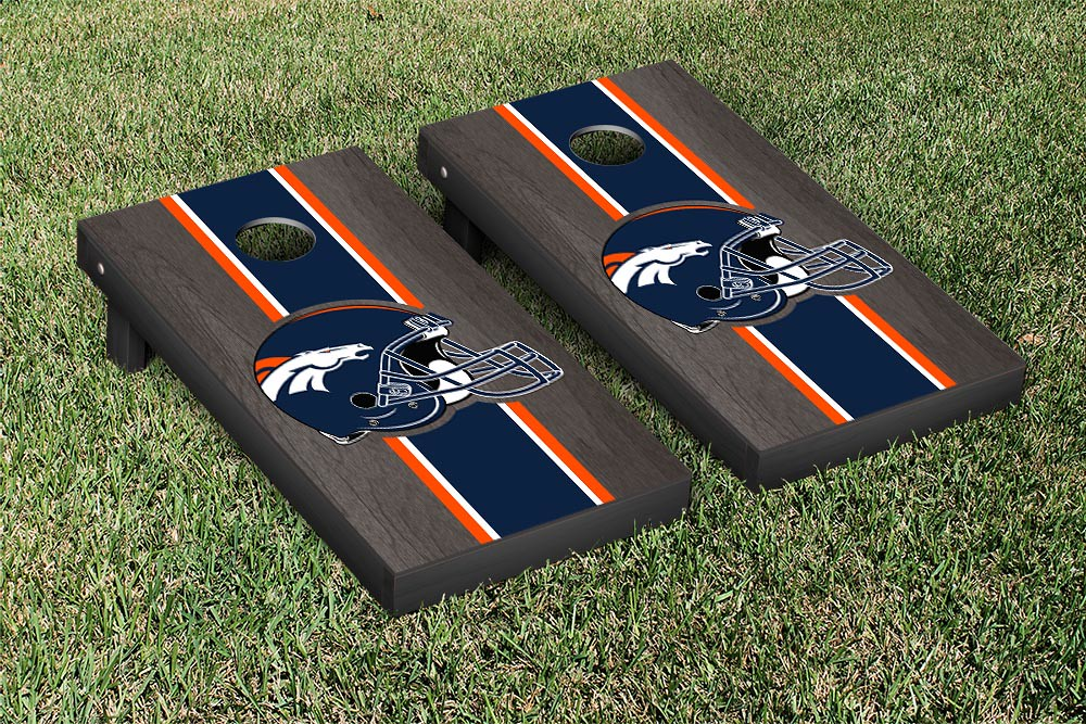 Denver Broncos Onyx Stained Stripe Version