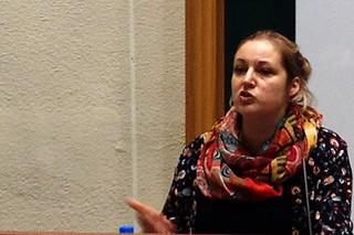 Dr. Bea Maas來台分享印尼可可園生態系服務功能研究經驗。攝影:廖靜蕙