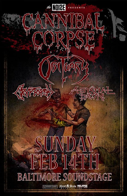 Cannibal Corpse at the Baltimore Soundstage