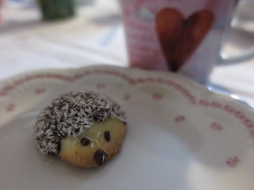 Igel-Keks zum Nachmittagskaffee