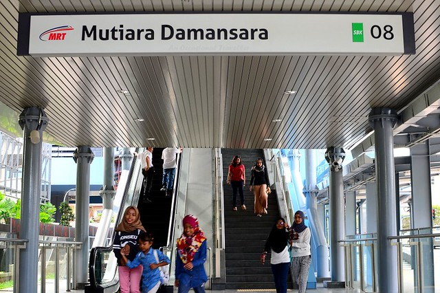 Entrance to Mutiara Damansara station