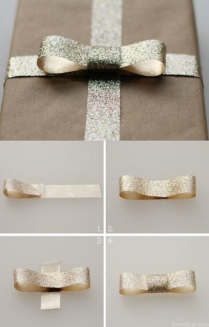 ideas para envolver regalos: glitter