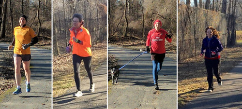 Couples setting personal bests: Colin and Andrea, and Tom (and Martina) and Genevieve