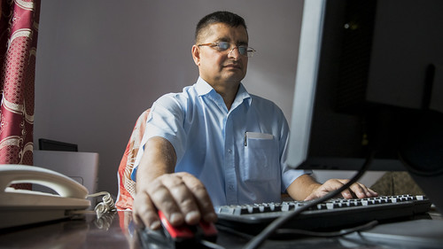 Employee Works on Nepal Trade Information Portal | by World Bank Photo Collection