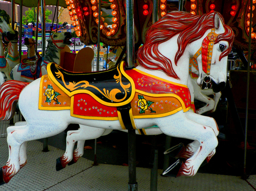 small carnival carousel horse this and the following image flickr