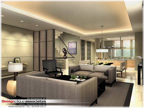 Private Living Room Rendering Designer Hirsch Bedner