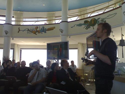 Sampo Karjalainen speaks at Aula 2006 | - Taken at 3:25 PM