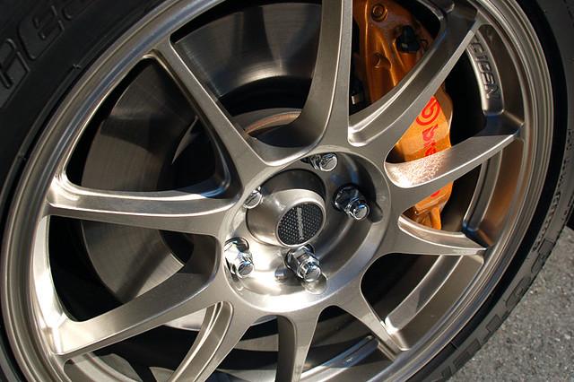 wedssport tc105n wheels on a subaru wrx sti wedssport