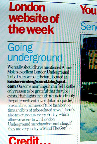 Time Out London  - July 19th issue - London Website of the Week | by Annie Mole