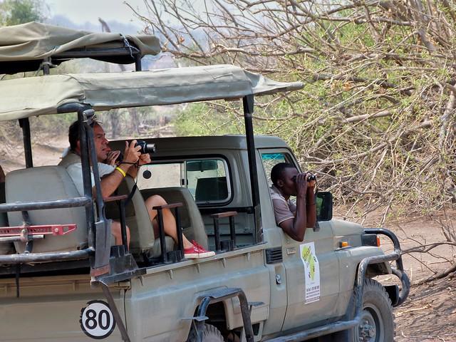 Todoterreno de Mopane Game Safaris con el que viajamos por Botswana