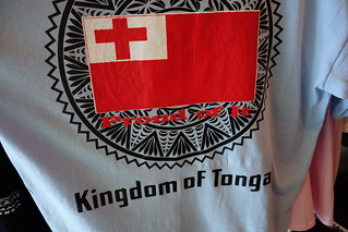 T-shirt com a bandeira do Reino de Tonga