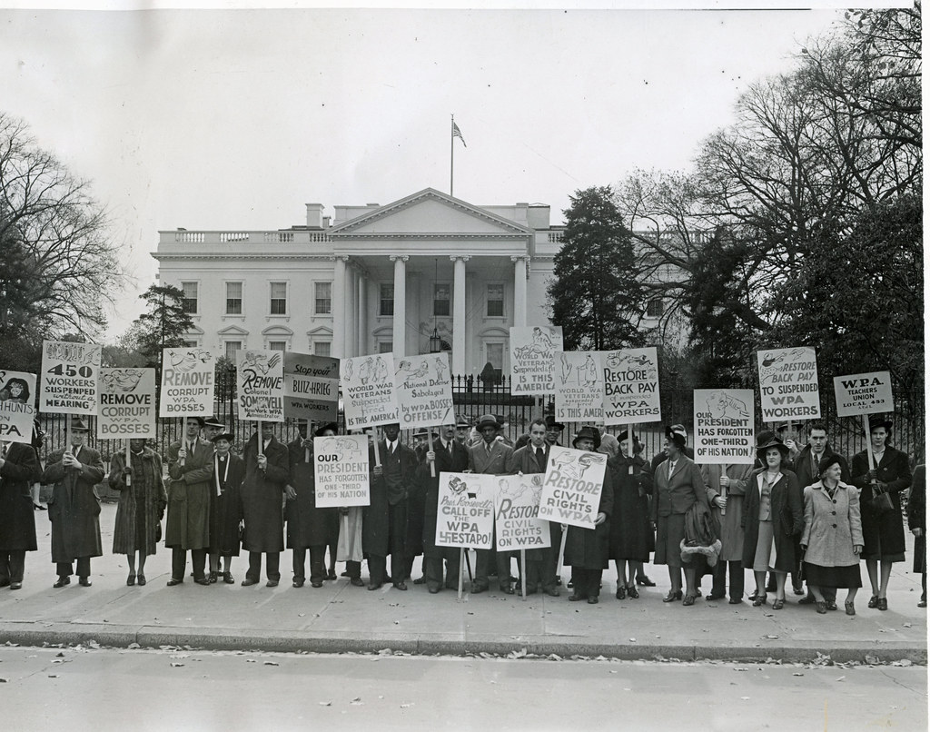 Protest political interference in WPA: 1940 | William ... 1940s White House Scottie