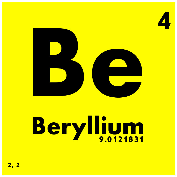004 beryllium periodic table of elements watch study gui flickr 004 beryllium periodic table of elements by science activism urtaz Image collections