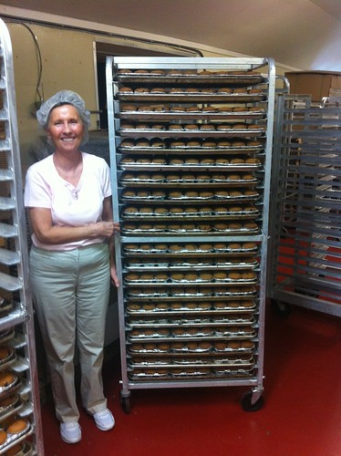 Local bakery owner Susan Murray with freshly baked local muffins