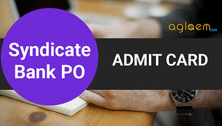 Syndicate Bank PO Admit Card 2016 / Call Letter - Download