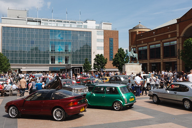 Classic car display on Broadgate