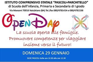 Noicattaro. Open Day Pascoli-Parchitello front