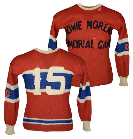 Howie Morenz Memorial Game Montreal team jersey