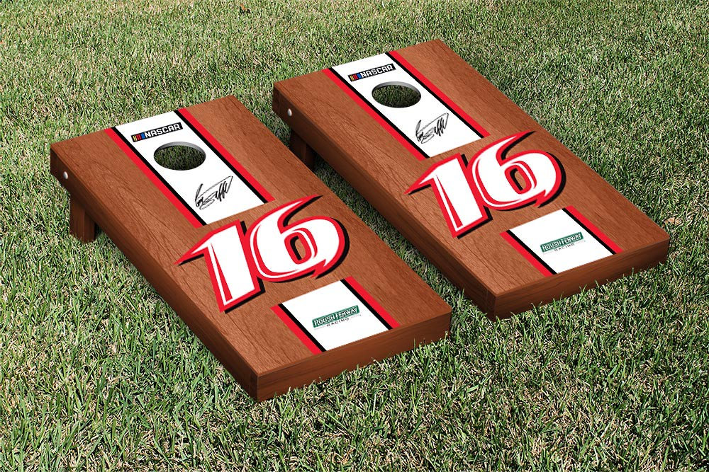 GREG BIFFLE #16 CORNHOLE GAME SET ROSEWOOD STAINED STRIPE VERSION