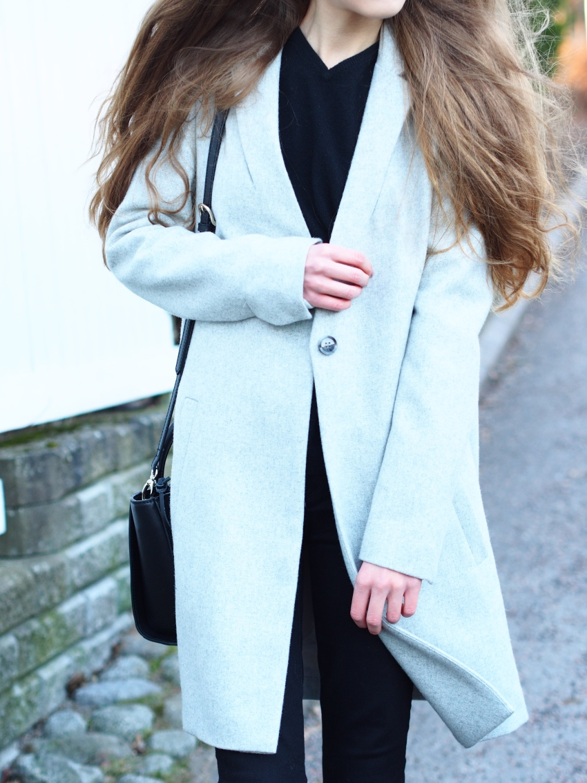 grey samsoe & samsoe wool coat