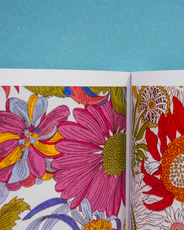 bold and colourful floral pattern