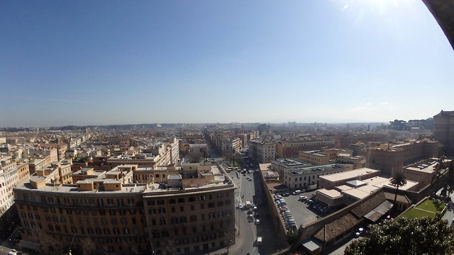 Rome from Bramante Staircase
