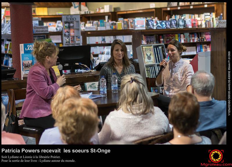 Patricia Powers recevait les soeurs St-Onge