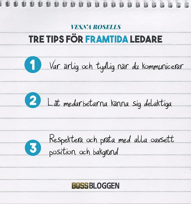 Tre Tips Vesna Rosell