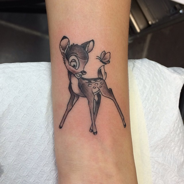 tiny bambi deer wristtattoo tattoos tattoo inkedup flickr. Black Bedroom Furniture Sets. Home Design Ideas
