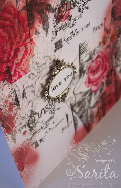 Decoupage napkin card 1