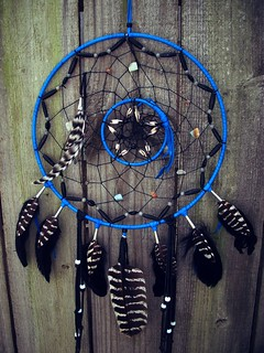 Dream Catcher Black and Blue | by Owlie!