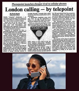 22nd August 1969 - Phonepoint mobile phone launched | by Bradford Timeline