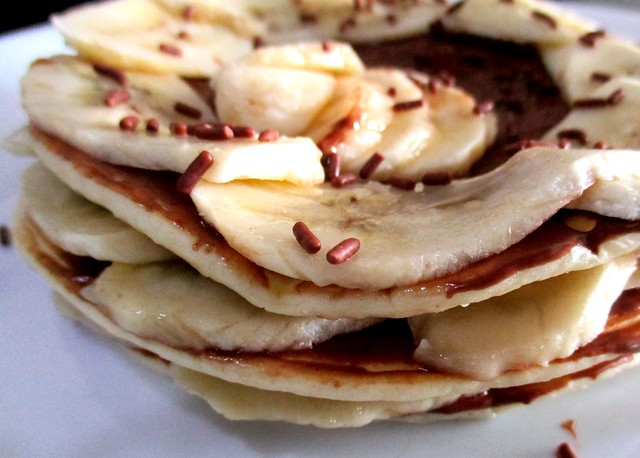 Pancake with Nutella & bananas