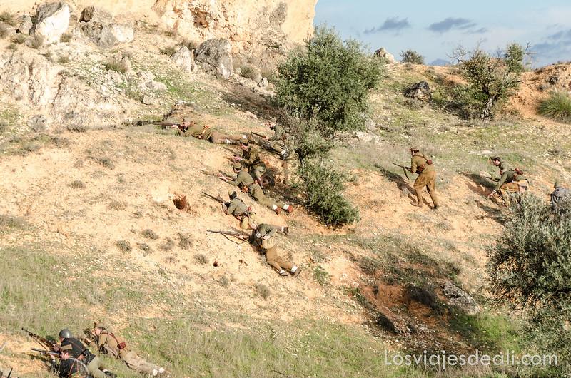 recreación histórica de la batalla del Jarama
