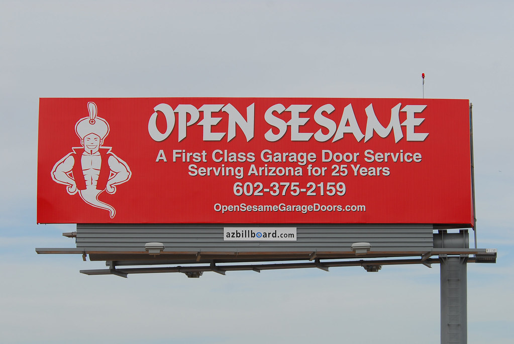 Open Sesame Garage Doors Billboard Santan Freeway Loop 2 Flickr