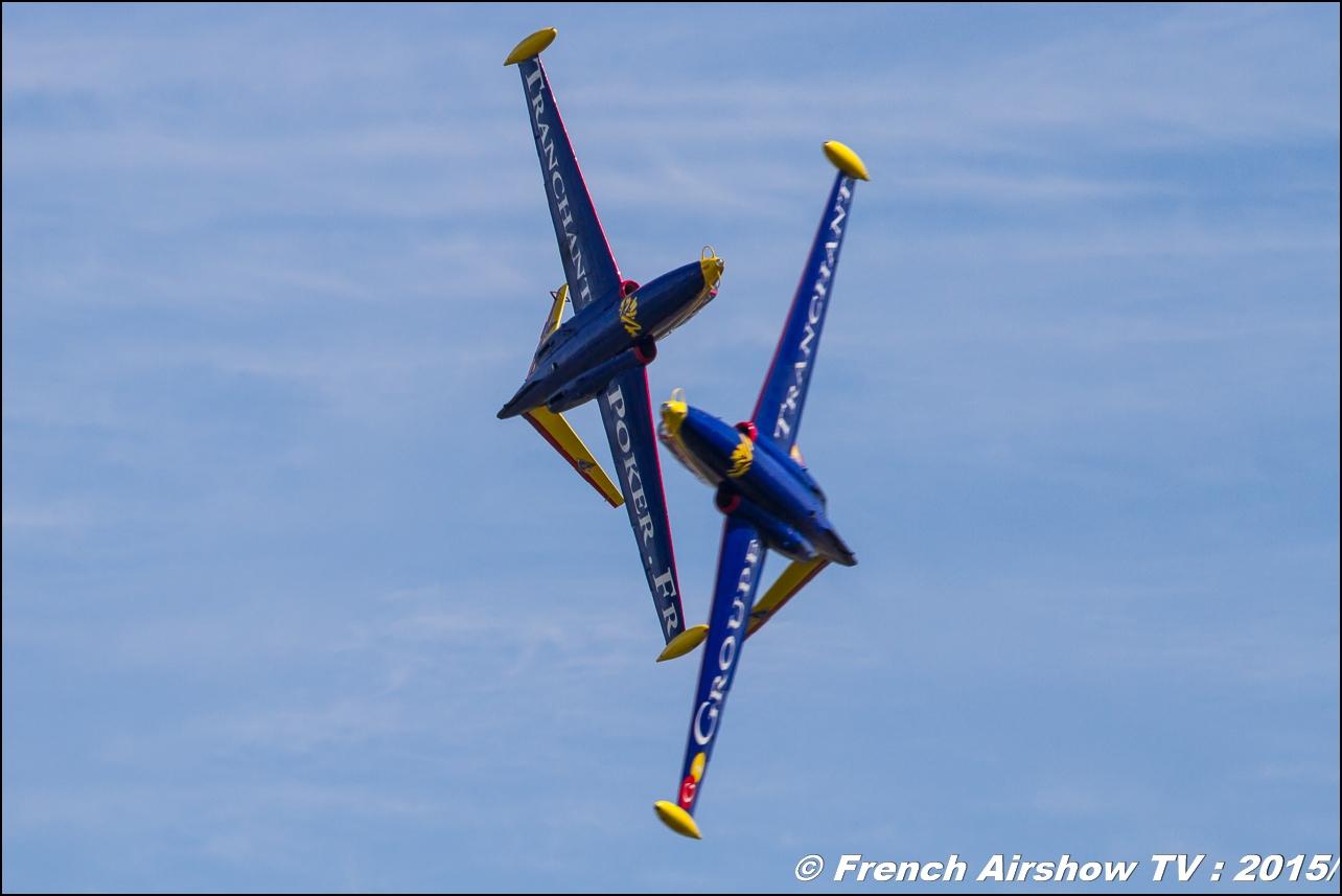 Patrouille Fouga Tranchant , Patrouilles Tranchant ,duo Fouga Magister , Feria de l'air 2015,BAN Nimes-Garons, Feria de l'air nimes 2015, Meeting Aerien 2015