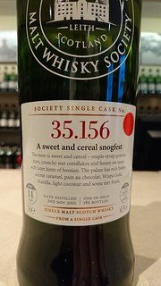 SMWS 35.156 - A sweet and cereal snogfest
