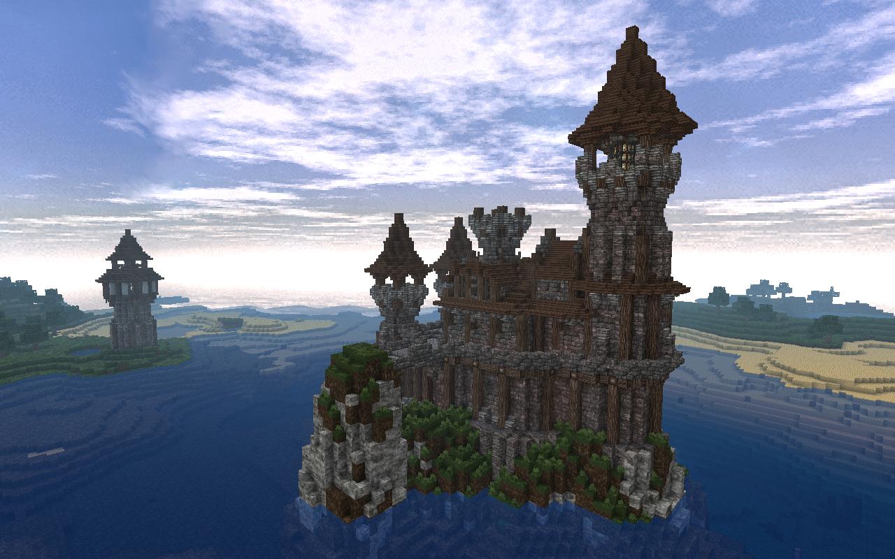 château minecraft avec le resource pack Vonafarth