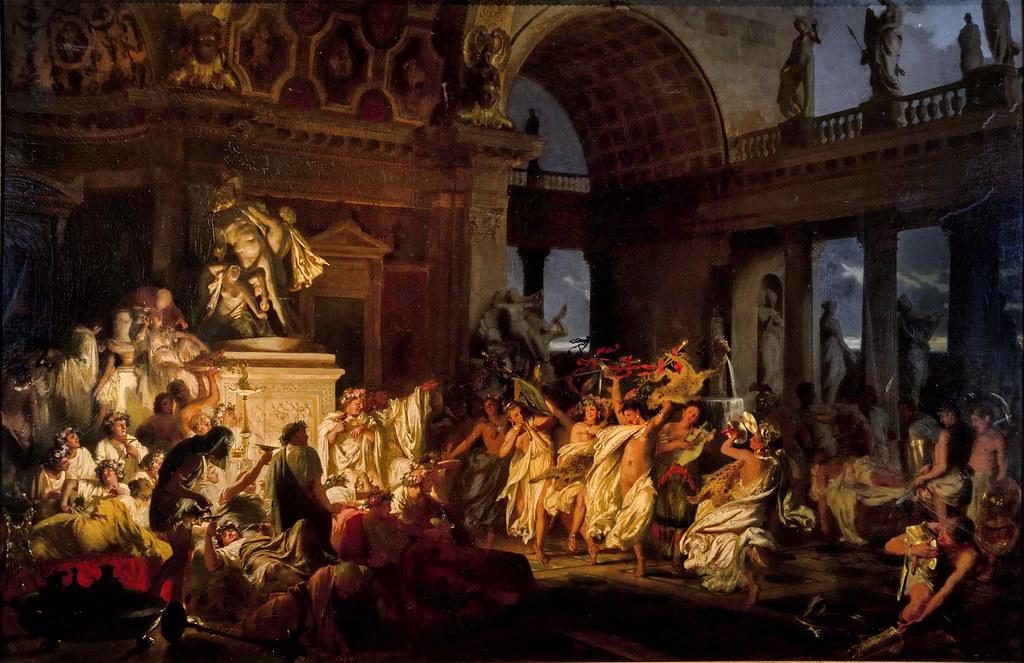 Henry Siemiradzki Roman orgy brilliant time tsesarizm - Генрих Семирадский Римская оргия блестящих времен цесаризма