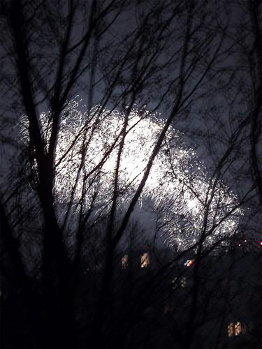 Silvesterfeuerwerk in Berlin-Kreuzberg