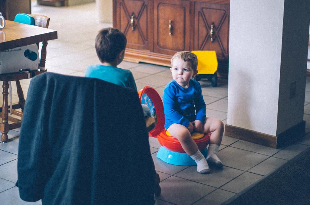 ezra on the potty