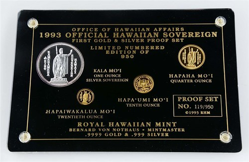 1993 Hawaiian Gold and Silver Proof Set