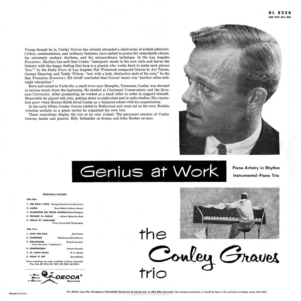 Conley Graves Trio - Genius at Work b