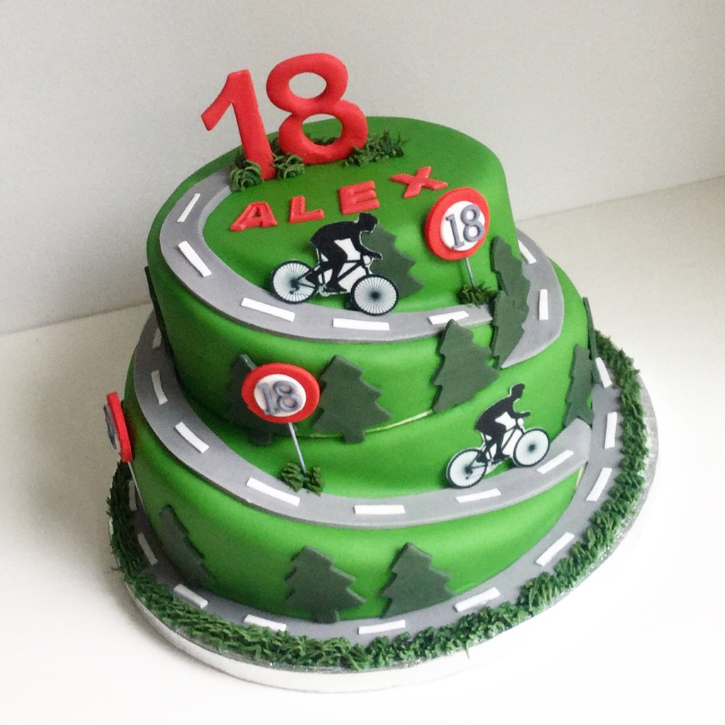 Cycling Mountain Road Scene Cake Melissa Rayner Flickr