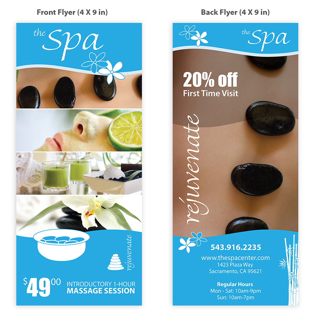 spa flyer template for purchase only essentialstockimage